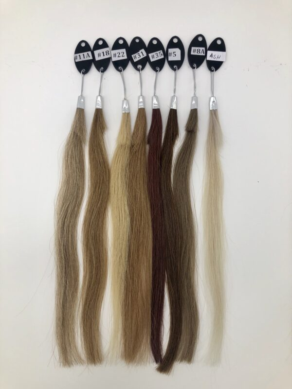 Colored Indian Straight Closure